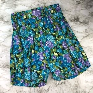Vintage 80's High Waisted Floral Culotte Shorts 10